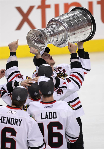 Chicago Blackhawks with the Cup